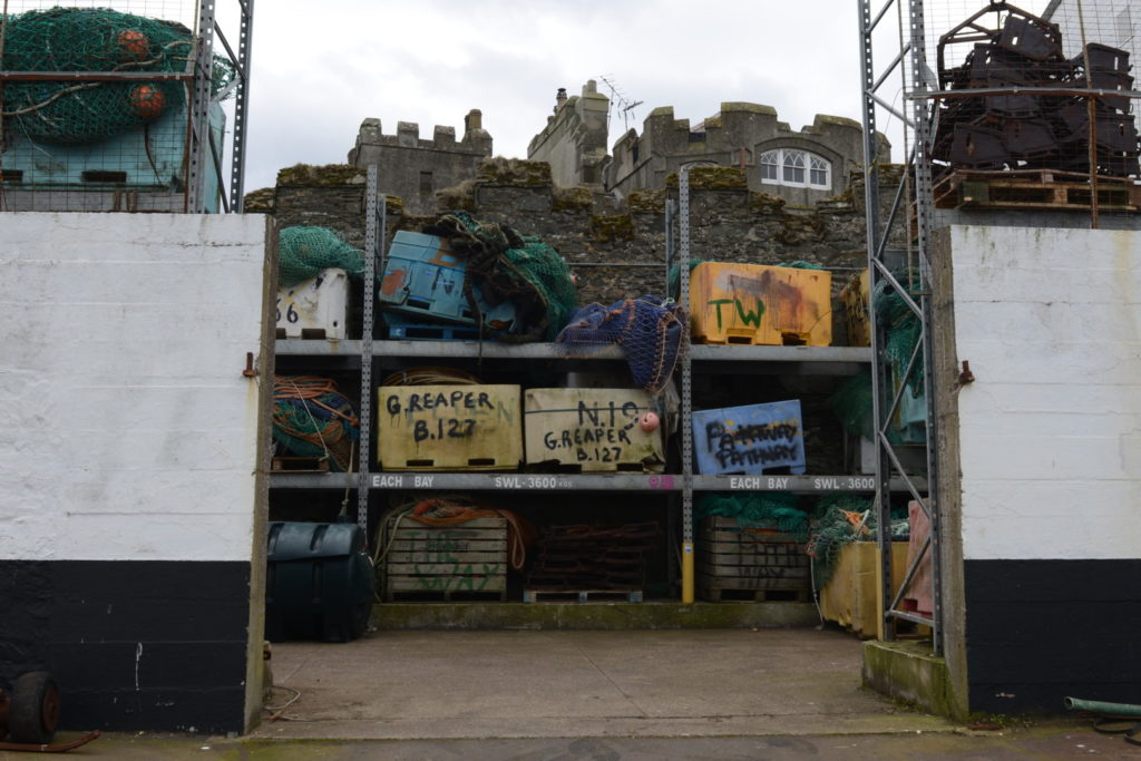 G Reaper bales etc : Spot the celebrity at Ardglass Harbour, Co. Down
