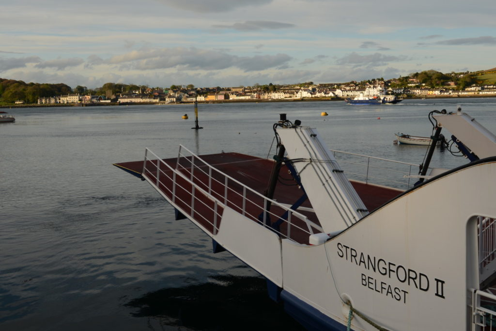 Caption: The ferry at Strangford